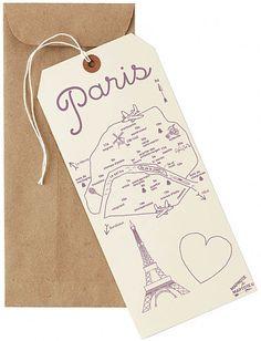 Paris mapnote cards