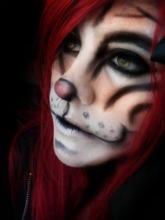 Tigress Costume Makeup #Halloween #Costumes #Makeup I love how the mouth looks like a real tigers mouth