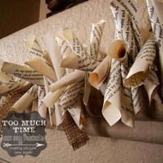 Rolled Book Page and Burlap Garland 3 copy