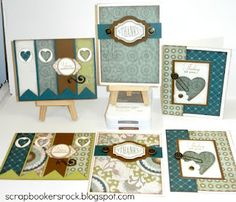 Avonlea CTMH paper card sets.  Use up those scraps