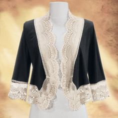 Black Lace Cardigan - New Age & Spiritual Gifts at Pyramid Collection