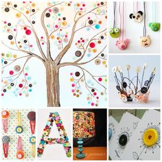 40 Wonderful BUTTON CRAFTS for all occassions.