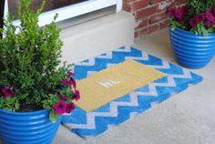 Interchangeable Chevron Doormat–Making Lemonade}