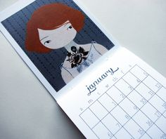 The 2013 Calendar is here! + a DIY set of monthly calandar blanks for you crafty people, you!