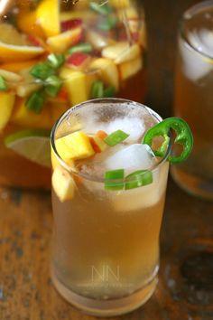 Spicy Hibiscus Peach Tea Sangria Recipe
