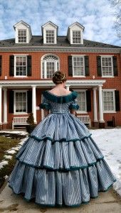 Victorian ball gown.