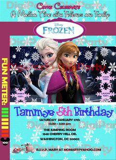 """Disney """"Frozen"""" birthday invitations  at https://www.etsy.com/listing/173308487/disney-frozen-birthday-party-same-day"""