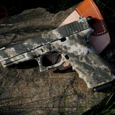 Glock with cool duracoat pattern.