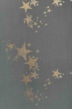 silver stencil wall stars