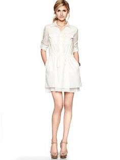 Roll-sleeve shirtdress | Gap