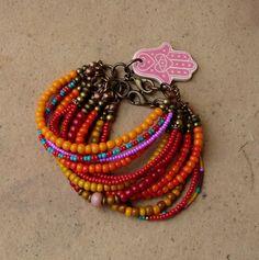 bead crafts bracelets, bead bracelet, bracelet collect, happy colors, beaded bracelets, gold rings, seed beads, friendship bracelets, happi bracelet