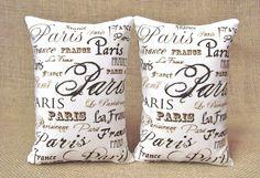 paris themed pillows