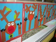 So cute...Rudolph looking in through the window