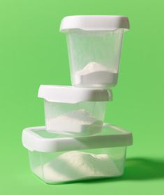 Soak plastic containers in warm water and baking soda overnight to banish smells.