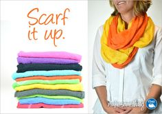 Add some color with these #DIY no-sew scarves from @Danielle Ritzman Sewing