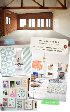 A little peek at the Oh Joy studio in progress | to be designed by Emily Henderson
