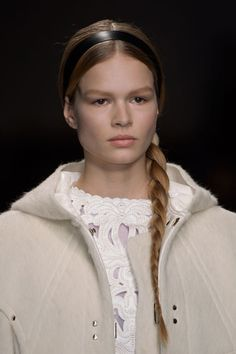 The side braid as seen at Valentino.