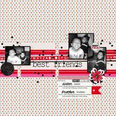 Family Album 1999: best friends layout by Tina Shaw   Pixel Scrapper digital scrapbooking