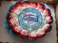 Box Tops + cupcakes? Love it!