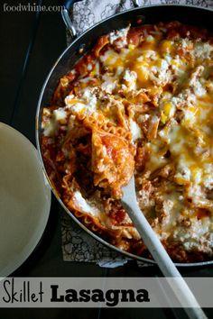 Skillet Lasagna- So easy!!