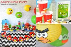 Angry Birds themed birthday party via Kara's Party Ideas karaspartyideas.com #angry #birds #birthday #party #ideas #supplies #decorations