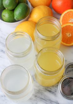 DIY Electrolyte Sports Drinks. Make a healthier Gatorade with less sugar and fresh fruit juices.