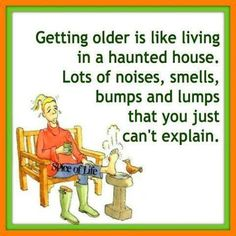 #old #age #haunted #house #noise #smell #bump #lump #funny #hilarious #relatable
