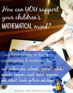 Learning abstract mathematical concepts starts with play. When given the opportunity, materials and freedom, kids spend their days involving maths.