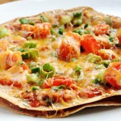 homemade Mexican pizzas -
