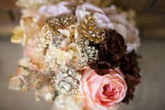Romantic Blush Pink Coral Bouquet Brooch by KAArtisticEvents, $225.00