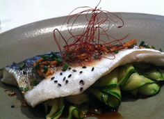 Steamed Ginger Infused Sea Bass with Zucchini - Judy Joo