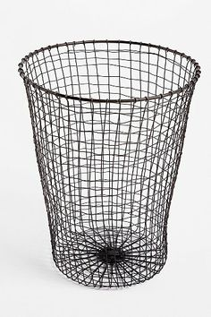 Woven Wire Trashcan - Urban Outfitters