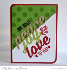 Merry Messages, Peace Joy Love Die-namics, Jumbo Polka Dot Stencil - Teri Anderson #mftstamps