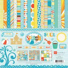beaches, park splash, echo park, parks, paper crafting, echopark, papers, blog, beach projects