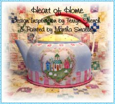 """E Pattern - Painting With Friends:  """"Heart of Home"""". $5.00, via Etsy."""