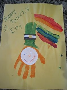 St Patrick's Day hand painting craft
