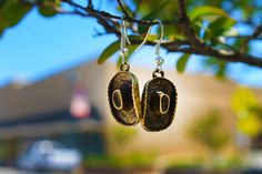 Burnished Cowboy Hat Earrings - Six Shooter Gifts