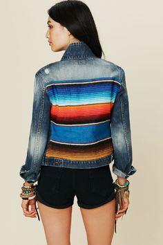 a little colour with a denim jacket!