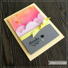 card idea, vellum cloud, color