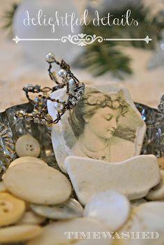 wire, pearl & crystal crown