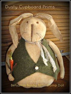 Benjamin Bunny 10 Stump Doll by DustyCupboardPrims on Etsy, $5.00