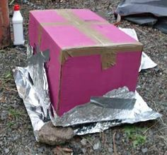 Baking directions for using a foil oven in the woods