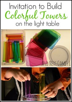 Building Colorful Towers on the Light Table from And Next Comes L