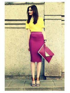Be bold in orchid and yellow! | PANTONE Color of the Year 2014 - Radiant Orchid fashion