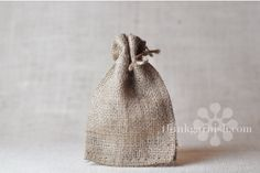 burlap 4x6 drawstring bags, $0.70 each