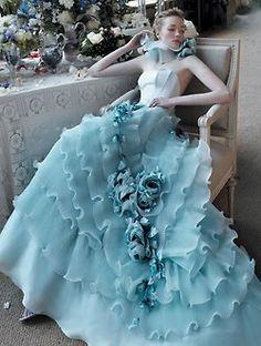 Blue frills