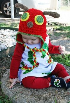 The Very Hungry Caterpillar - crochet. So cute for book-themes party