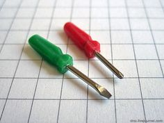 how to: miniature screwdriver out of a thumbtack