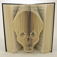 Carved book.