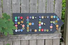 Bottle Cap Beer Sign Arrow by colleenkcreations on Etsy, $30.00